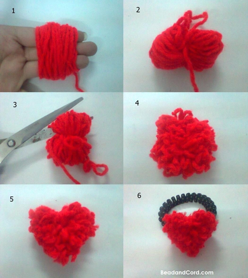 DIY Hair Accessories : How to Make a Super Easy Heart Shape Yarn Hair Tie in Minutes