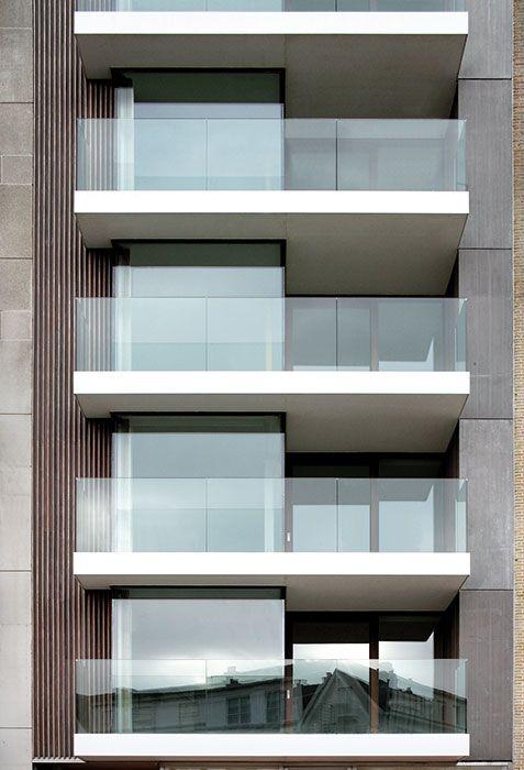 Glass barrier on back balcony