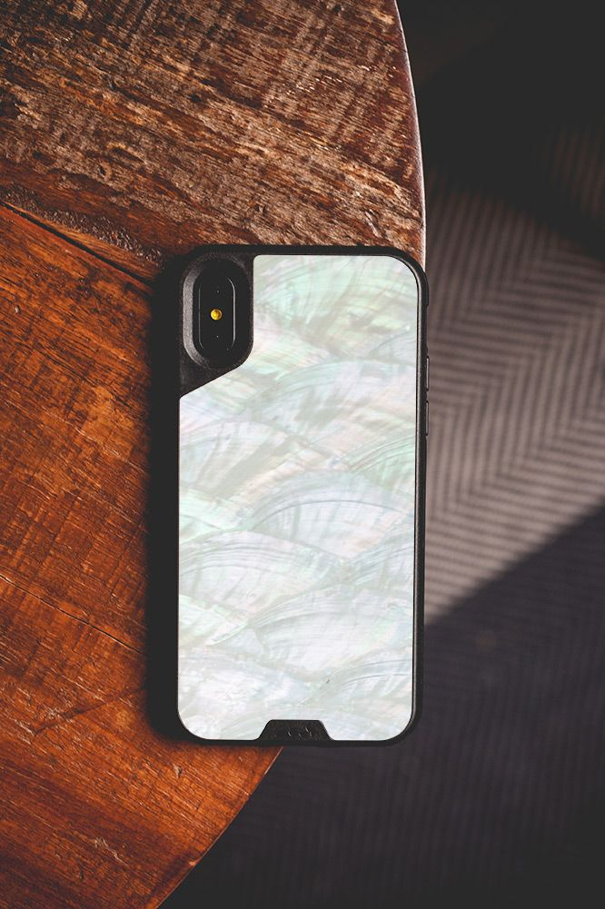 online store 77b4b ad778 Real White Shell Case iPhone X | Mous Shells in 2019 | Phone cases ...