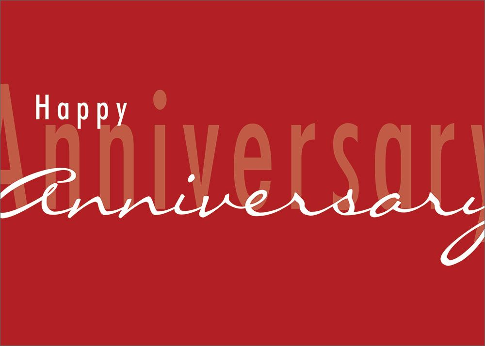 Simple Red Anniversary Anniversaries - anniversary card template