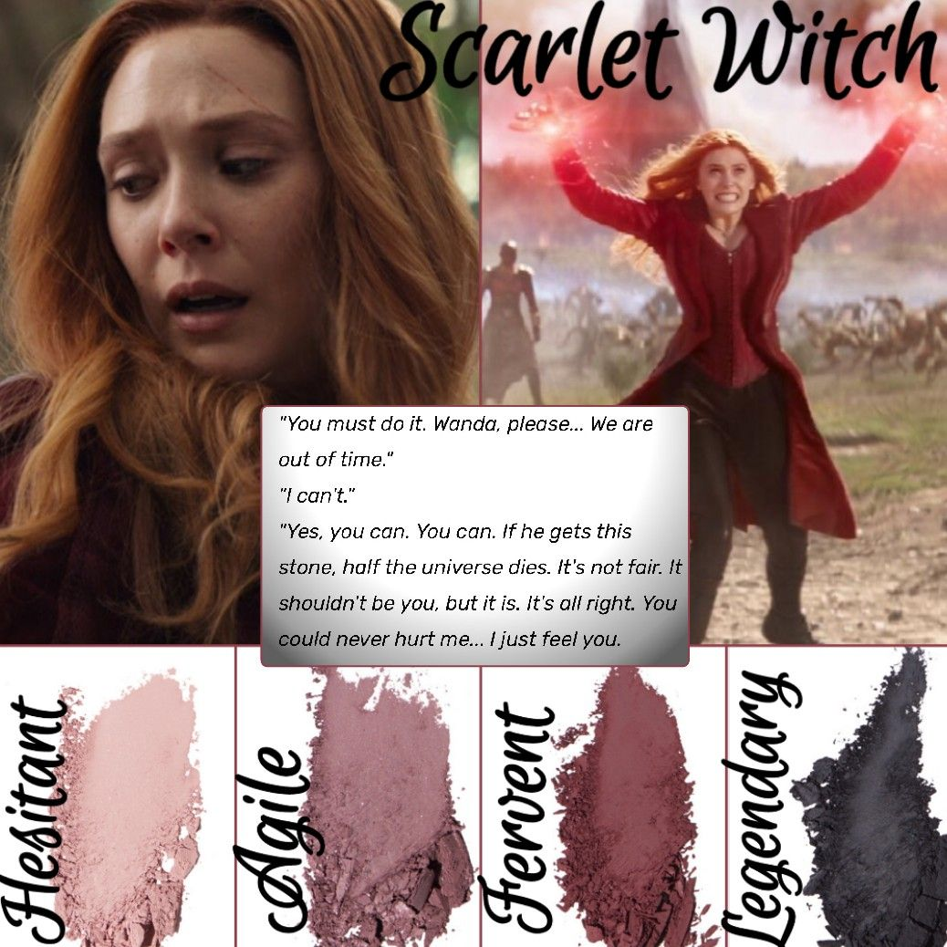 Younique Look Scarlet Witch Wanda Maximoff Avengers Infinity War Younique Makeup All Things Beauty