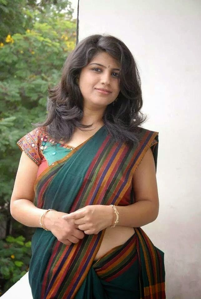 Homely Beauty Saree Girls  Indian Women, Aunty In Saree