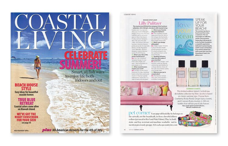 Check out the Up Country collars in Coastal Living!