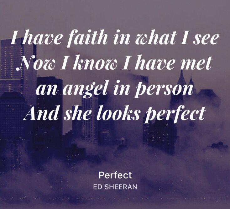Ed Sheeran Perfect: Perfect Ed Sheeran Lyrics Pdf