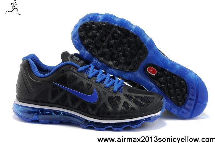 2011 Nike Air Max Noir Et Bleu