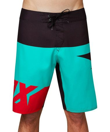 8490e21350 Loving this Teal Shiv Board Shorts - Men's Regular on #zulily! #zulilyfinds  Mens