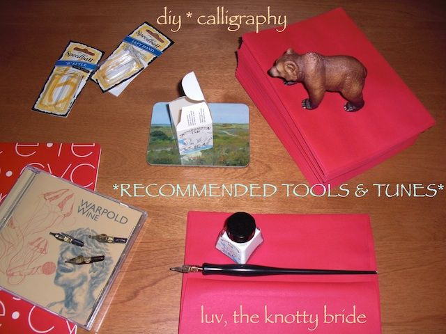 Diy wedding calligraphy tools youll need to do it yourself diy wedding calligraphy tools youll need to do it yourself addressing solutioingenieria Image collections