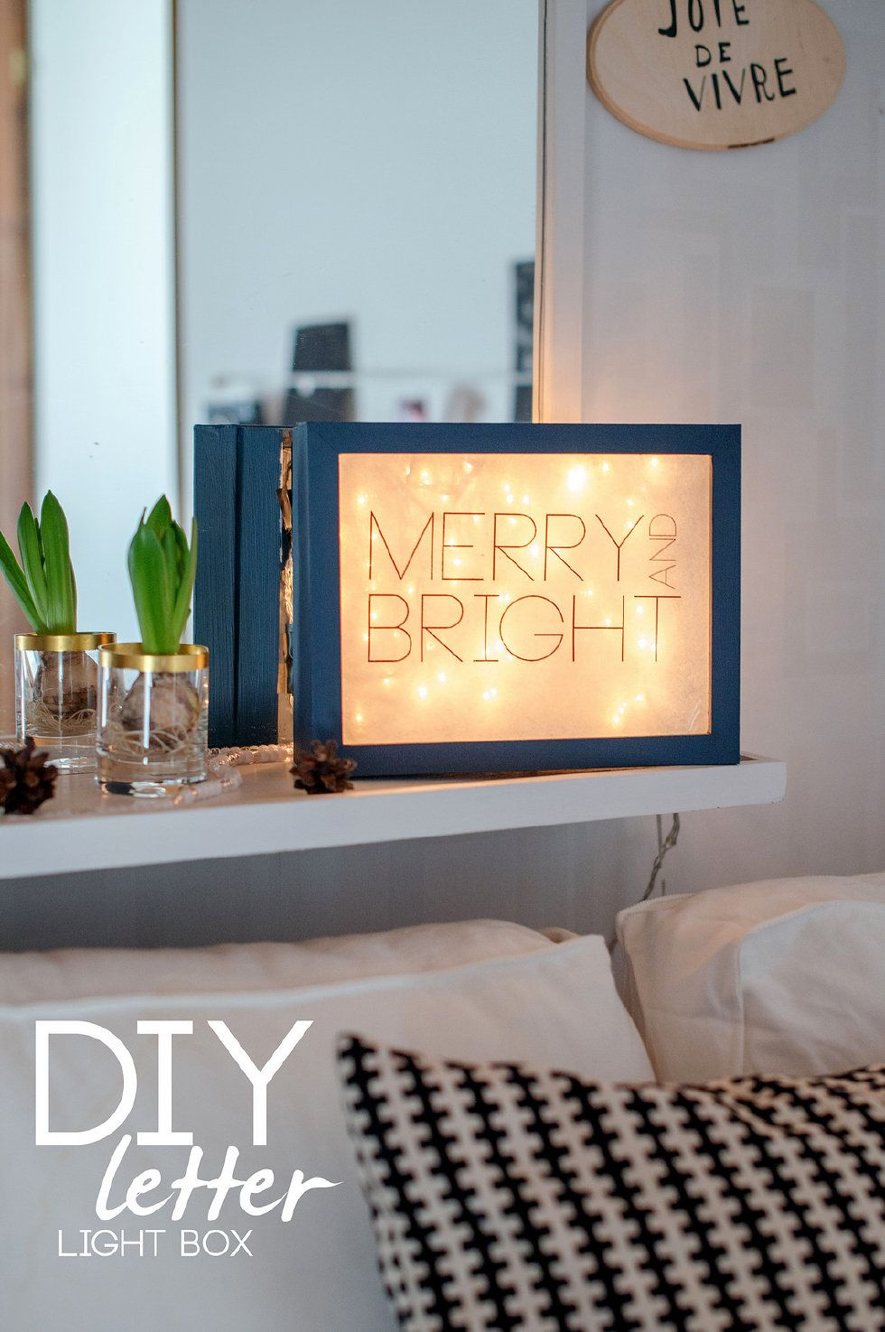 Make your own letter light box in 5 simple steps. | Holiday ...