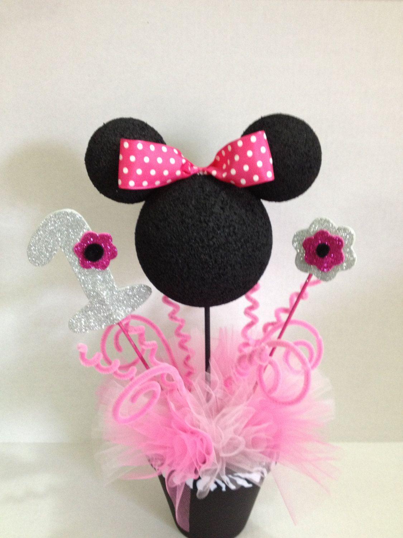 Minnie Mouse Centerpieces 17 00 Via Etsy Birthday Pinterest