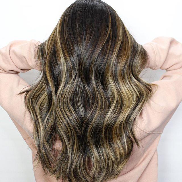 Dimensional warm and cool tone caramels with subtle hints of blonde