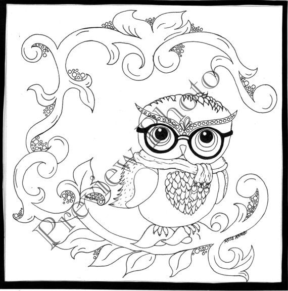 Color A Creation Touch Of Whimsy Pdf Version Only Etsy Cute Coloring Pages Animal Coloring Pages Whimsy
