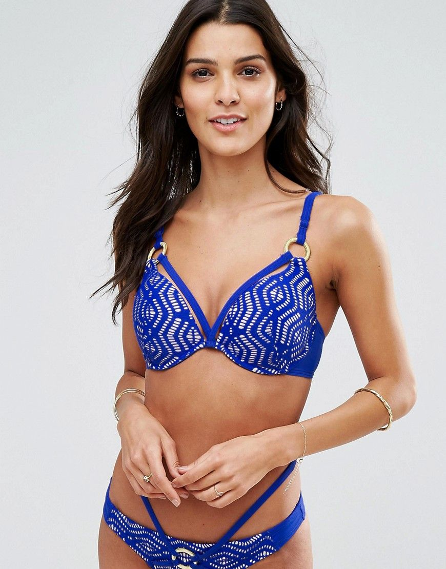 e0bd9f2fa19c74 Ann Summers Aroa Bikini Top - Blue | Products | Pinterest | Maillot