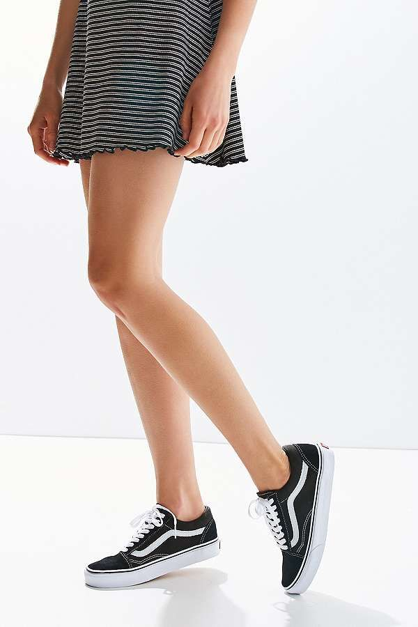 old skool vans women black