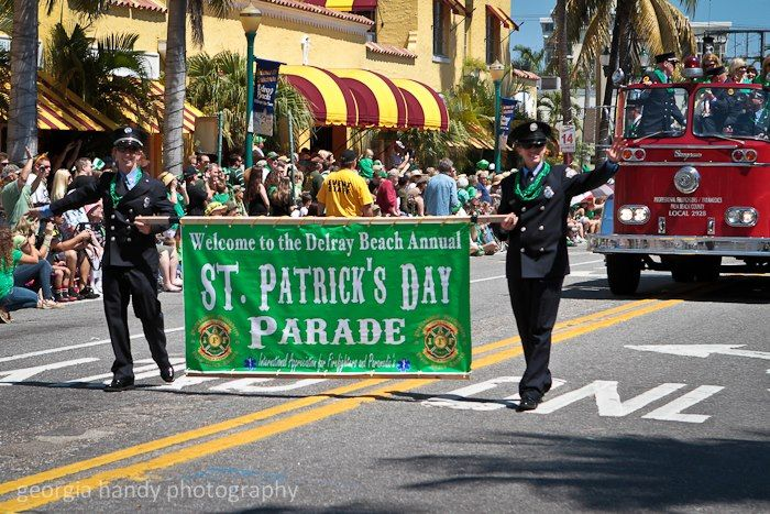 The Delray Beach St. Patrick's Day Parade celebrates Irish heritage while honoring the service of the International Firefighters.