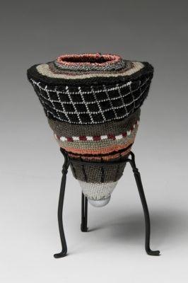 ELISABETH  MUNRO  SMITH 2 Cotton and metallic yarns, steel base