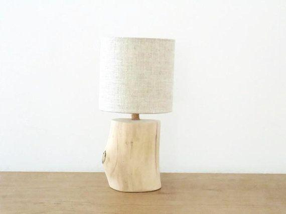 Lampe Bois Flotte Lampe De Chevet Abat Jour Lin Zen