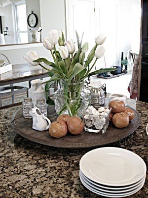 Lazy Susan For The Table Large Rustic Dining Table Kitchen