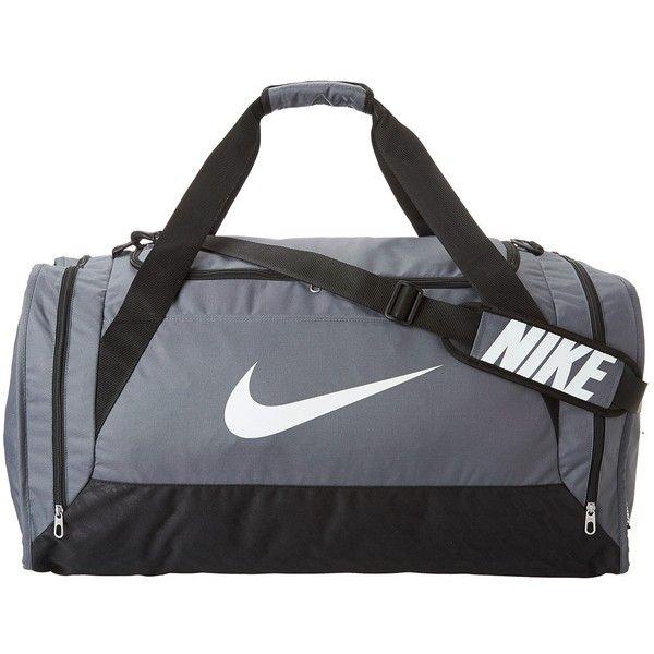 fa41bfac1054 Nike Brasilia 6 Large Duffel (Flint Grey Black White) Duffel Bags ( 50) ❤  liked on Polyvore featuring bags