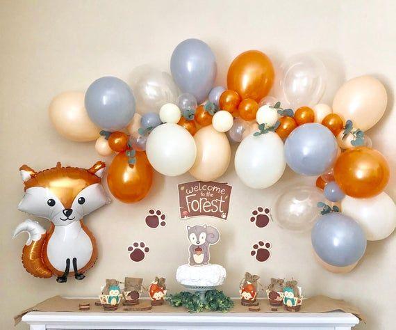 Baby Boy 1st Birthday Woodland Baby Birthday,Fox Decor Fox 1st Birthday Party Woodland 1st Birthday party Woodland Balloons Fox Balloon