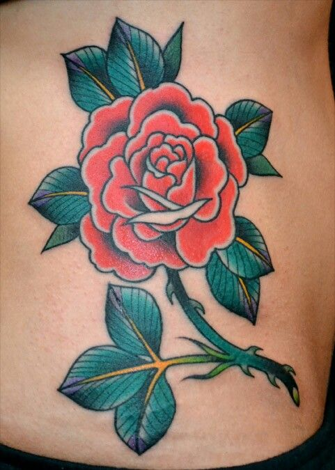 Old School Rose Tattoo Tattoos Flower Tattoos Anonymous Tattoo