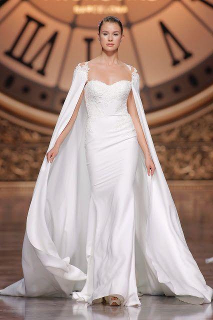 bodas de alta costura: vestidos de novia con capa perfectos para las