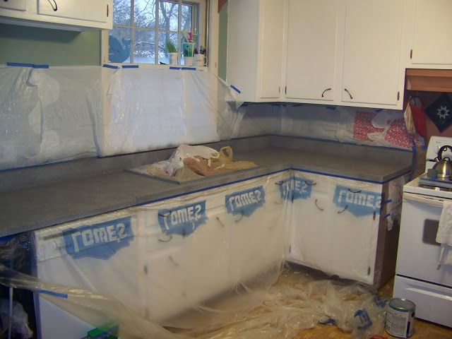 Stone Spray Paint On Laminate Countertops   I Like This Idea, But Without  The Super