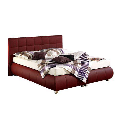 Boxspringbett Mosta Home Loft Concept Farbe Bordeaux Matratze Hartegrad Tonnentaschenfederkernmatratze H2 Liegeflache 180x200 Home Bed Home Decor