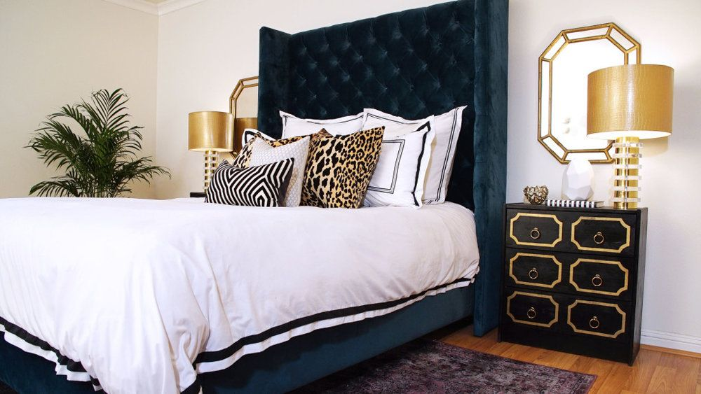Color Palette Black And Navy Blue Luxurious Bedrooms Blue And