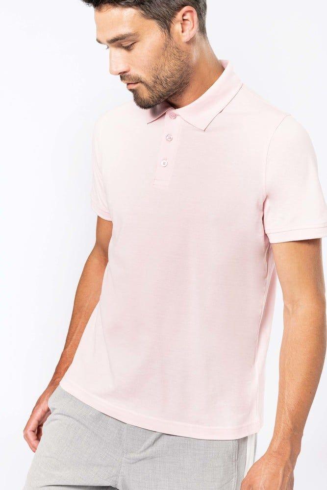 Pack 50 Herren Kurzarm-Polohemd. Baumwollpique. Oxford Grey – Kariban K254 – Größe: 3XL