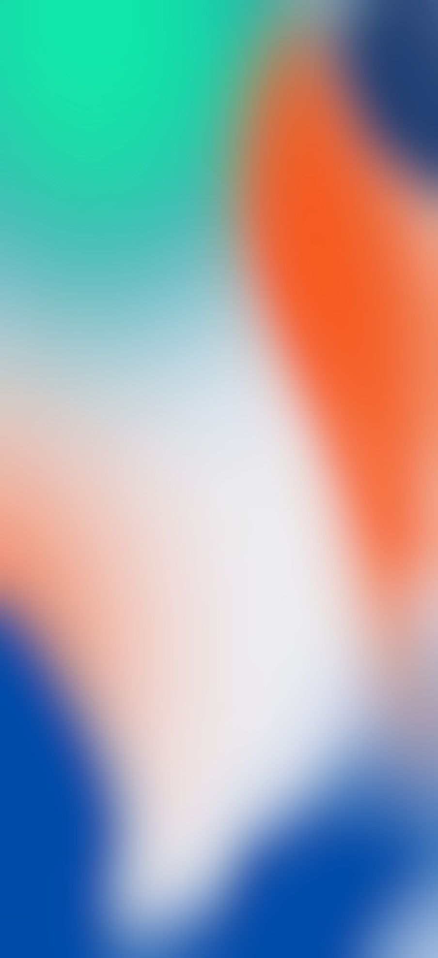 iOS 11, iPhone X, orange, green, blue, Stock, abstract, apple