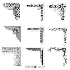 Resultado De Imagen Para Esquinas Decorativas Para Invitaciones Ornamental Corner Vector Free Vector