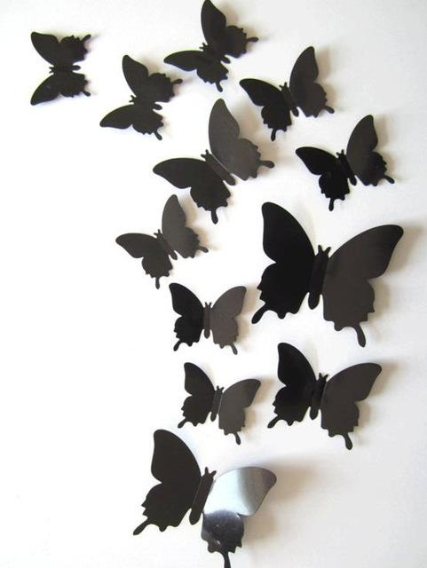 Style Modern Specification Multi Piece Package Scenarios Wall Material Plastic Type 3D Butterfly Item Sticker