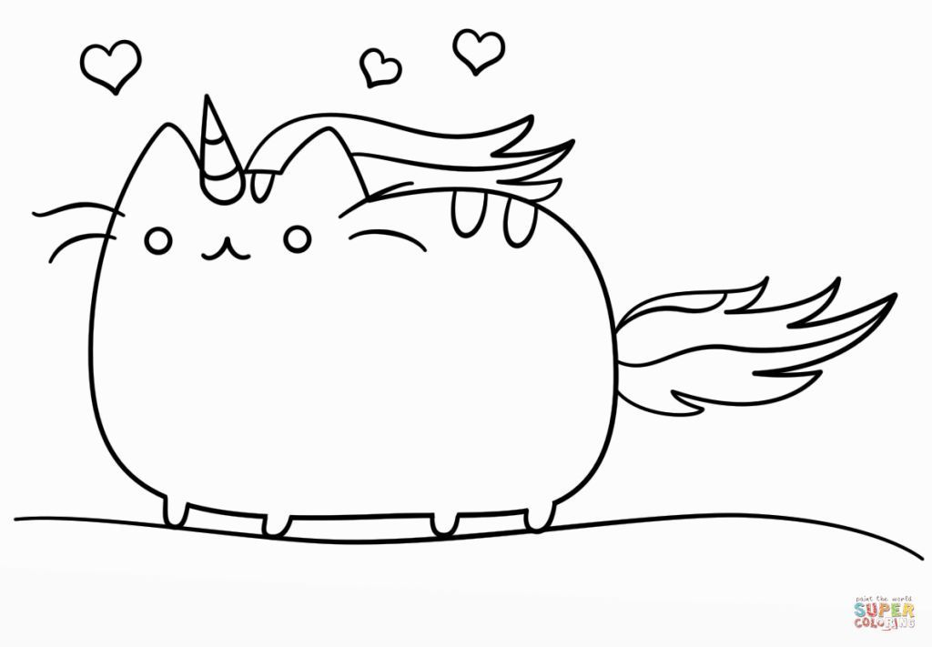 Image Result For Unicat Coloring Pages Pusheen Coloring Pages