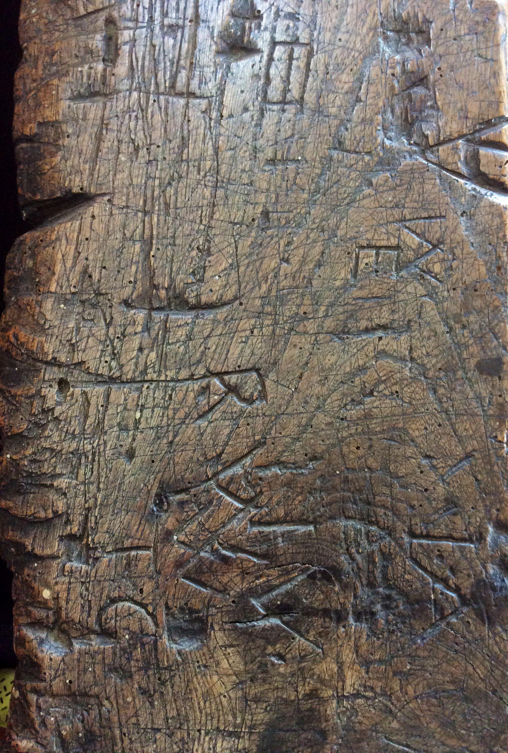 4042337029bc 17th Century Graffiti on school desk. Corsham. Glyn Overton ...
