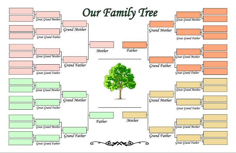5 Generation Family Tree Template Family Tree Template With Cousins