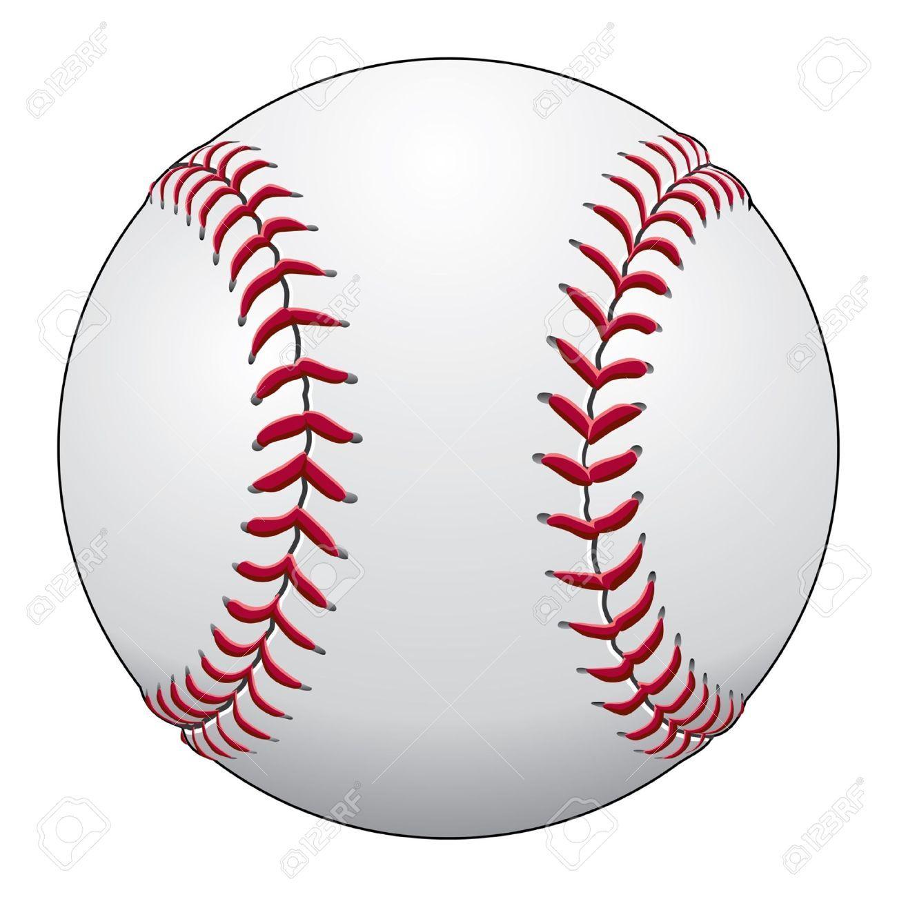 El Beisbol Es Una Ilustracion De Una Pelota De Beisbol En Cuero Blanco Con Puntos Rojos Pelota De Beisbol Guantes De Beisbol Beisbol
