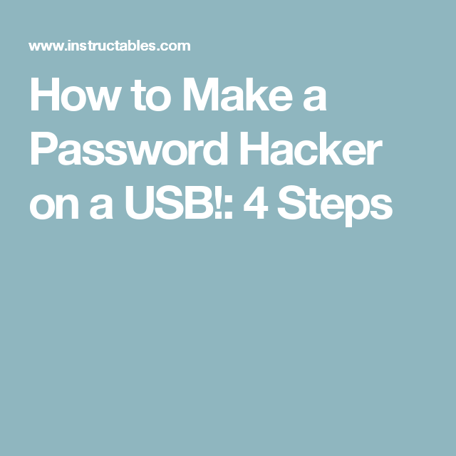 How to Make a Password Hacker on a USB! | Android | How to