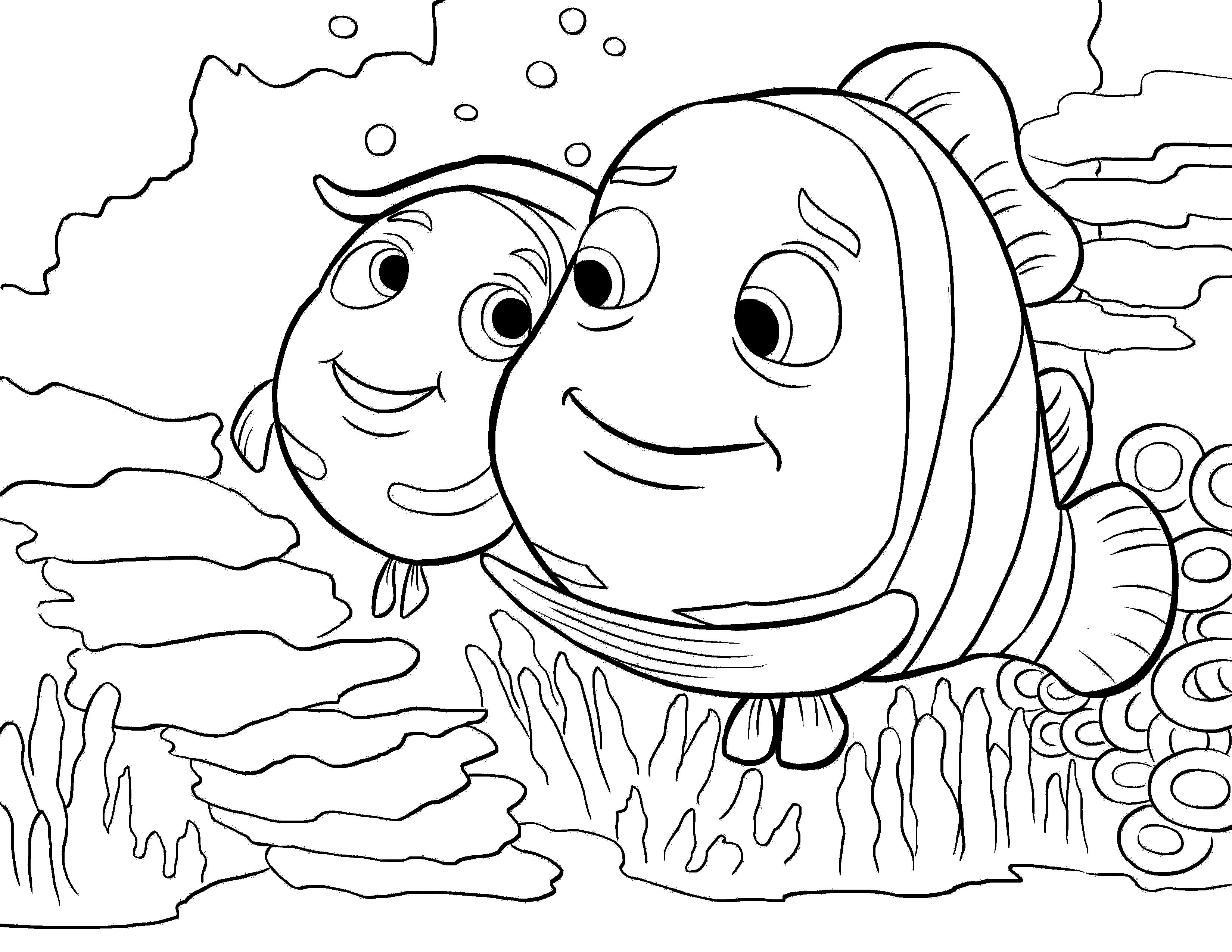 Finding Nemo Feel The Warmth Coloring Pages For Kids #dek