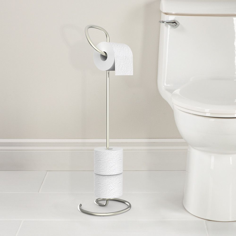 Loo Free Standing Toilet Caddy Modern Toilet Paper Holders Toilet Paper Stand Toilet Paper