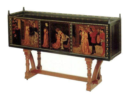 William Morris, St. George cabinet  Morris furniture, William