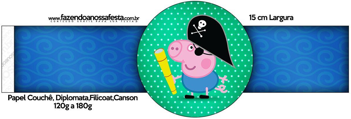 Porta Guardanapos George Pig Pirata: