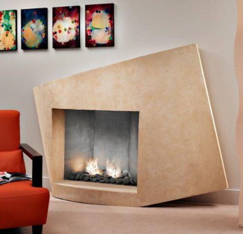 asymmetrical fireplace from francois cojpg 500483 pixels kamin umgibtkaminbaufeuerstellen aus steinkaminideenmoderne kaminsimstv - Moderner Kamin Umgibt Kaminsimse