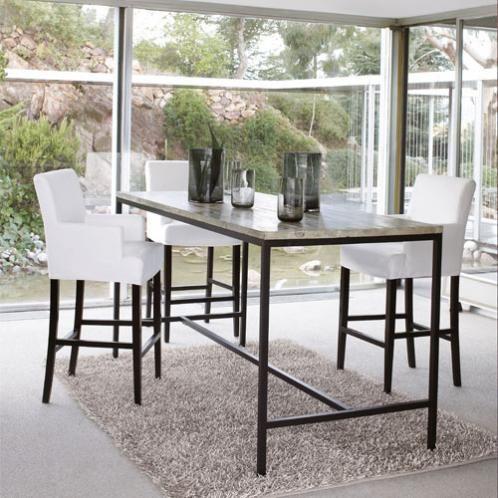 table manger haute en sapin et m tal 10 personnes l210 deco scandinave mars 2017 table. Black Bedroom Furniture Sets. Home Design Ideas