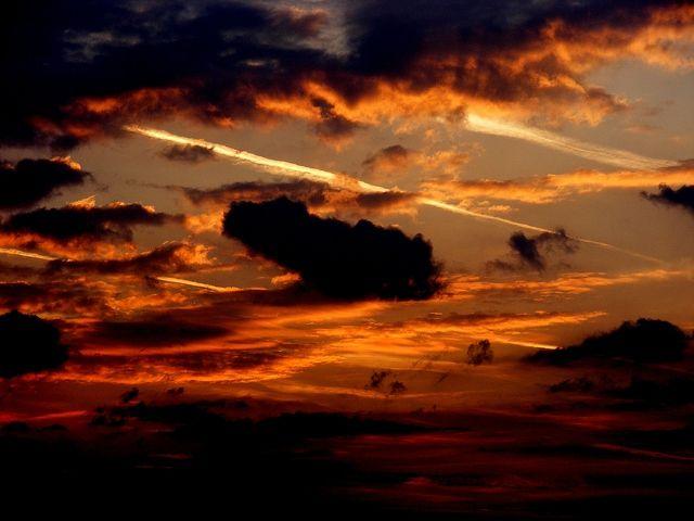 beautiful nature sunset