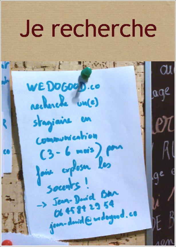Découvrez We Do Good : https://www.wedogood.co/ et postulez à l'offre : jean-david@wedogood.co