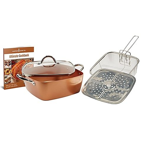 Enjoy Cooking Convenience And Versatility With The Copper Chef 5 Piece Extra Large Square Casserole Pan Set This Copper Chef Copper Cooking Pan Casserole Pan