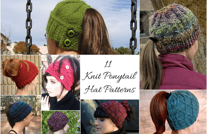 Knit Hat With Ponytail Hole Knitted Hat Ponytail And Ski Hats