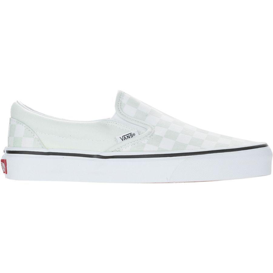 2cacff4c40f8 Vans - Classic Slip-On Shoe - Women s - (checkerboard) Blue Flower True  White