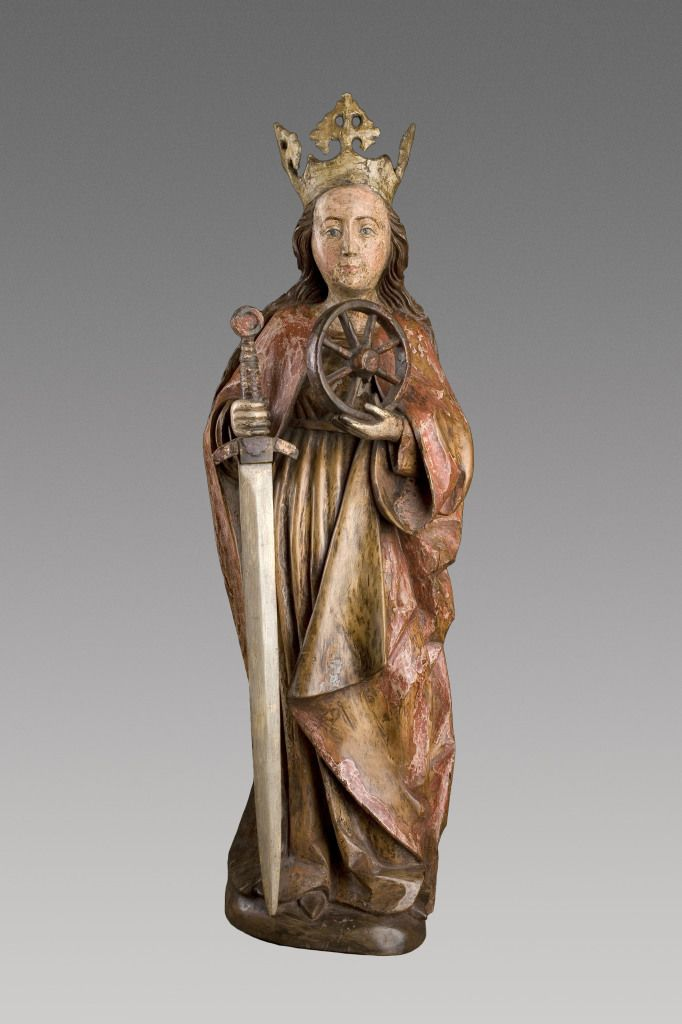 Saint Catherine -  Sculpture. Salzburg, first half of the 15th c.