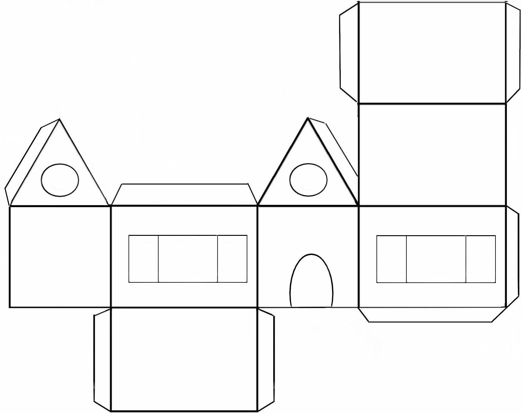 Colorier et d corer une maison pain d 39 pice en papier bricolages rapides maisons de papier - Site de bricolage maison ...